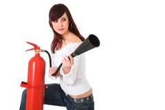Sapador-bombeiro da beleza fotografia de stock royalty free