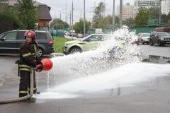 Sapador-bombeiro desconhecido do russo Imagem de Stock Royalty Free