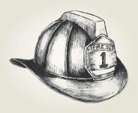 Sapador-bombeiro Helmet ilustração do vetor