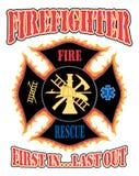 Sapador-bombeiro primeiramente no projeto Imagem de Stock