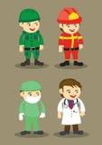 Sapador-bombeiro Surgeon e doutor Vetora Illustration do soldado Fotografia de Stock