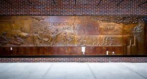 Sapadores-bombeiros de NYC 9/11 memoráveis Fotos de Stock
