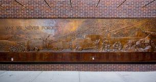 Sapadores-bombeiros de NYC 9/11 memoráveis Fotografia de Stock