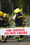 Sapadores-bombeiros em um incidente principal Imagem de Stock Royalty Free