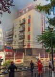 Sapadores-bombeiros na ação Fotos de Stock