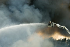 Sapadores-bombeiros na ação Imagem de Stock