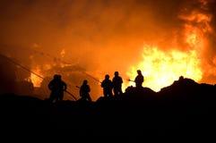 Sapadores-bombeiros no trabalho Fotografia de Stock
