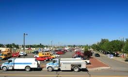 Sapadores-bombeiros, voluntários, cidade da barraca, e serviço p Foto de Stock Royalty Free