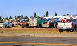 Sapadores-bombeiros, voluntários, e prestadores de serviços Fotografia de Stock Royalty Free