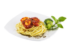 Sapaghetti sauce on white plate Stock Photography