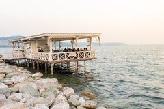 Sapanca湖、一个普遍的目的地的本机和游人 Kocaeli 火鸡 免版税库存照片
