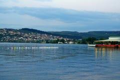 Sapanca湖看法  免版税图库摄影