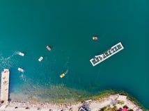 Sapanca jezioro w Sakarya, Turcja, Pedalo/ obrazy royalty free