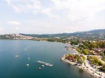 Sapanca Lake in Sakarya / Turkey / Pedalo. Sapanca Lake in Sakarya / Turkey Seaside with Pedalo royalty free stock photography