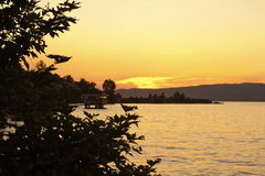 Sapancameer Turkije - zonsondergang royalty-vrije stock afbeeldingen
