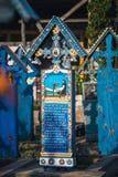 Sapanta快活的公墓, Maramures,罗马尼亚 那些公墓是独特的在罗马尼亚和在Th 免版税图库摄影
