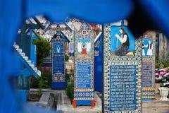 Sapanta快活的公墓, Maramures,罗马尼亚 免版税库存照片