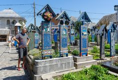 Sapanta愉快的公墓  库存图片