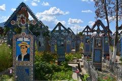 Sapanta, feliz cementerio Foto de archivo libre de regalías