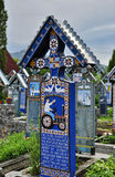 Sapanta merry cemetery, Romania Royalty Free Stock Photo