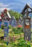 Sapanta merry cemetery in Romania Royalty Free Stock Photo