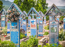 Sapanta Merry Cemetery Royalty Free Stock Photography