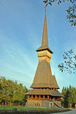 Sapanta wooden church stock photo