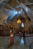 SAPARA monaster, AKHALTSIKHE, GRUZJA - 05 2017 SIERPIEŃ: Inside Zdjęcia Royalty Free