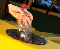 Saparation van het afval - plastiek Royalty-vrije Stock Fotografie
