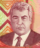 Saparmurat Niyazov. On 1000 Manat 2005 Banknote from Turkmenistan. President of Turkmenistan during 1990-2006 Stock Photos