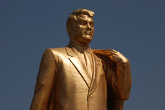 Saparmurat Niyazov Turkmenbashi monument royalty free stock images
