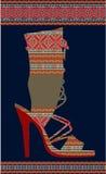 Sapata étnica da mulher Imagens de Stock
