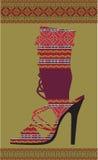 Sapata étnica da mulher ilustração do vetor
