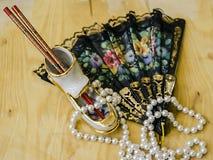A sapata cerâmica datilografa varas chinesas fotos de stock royalty free