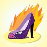 A sapata da mulher Imagens de Stock