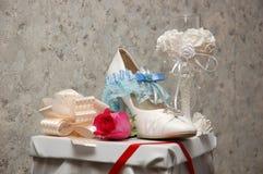 Sapata da noiva Fotografia de Stock