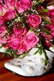 Sapata de Rosa Fotografia de Stock