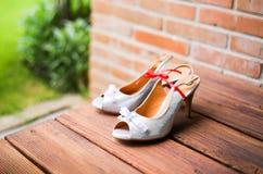 Sapata do casamento Foto de Stock Royalty Free