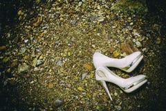 Sapata do casamento Foto de Stock