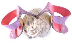 Sapata do salto alto Sandália cor-de-rosa dos saltos altos women& x27; sapatas de couro de s feitos a mão Foto de Stock Royalty Free