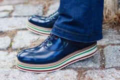 A sapata dos homens à moda Fotografia de Stock