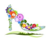 Sapata floral Imagem de Stock