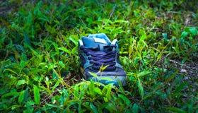 Sapata perdida no campo verde Foto de Stock Royalty Free