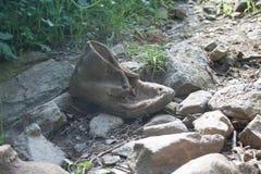 Sapata velha abandonada Fotografia de Stock Royalty Free