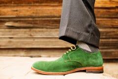 Sapata verde Fotografia de Stock Royalty Free