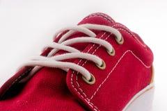 Sapata vermelha fresca imagens de stock