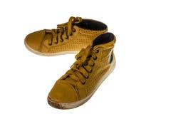 Sapatas amarelas Imagem de Stock