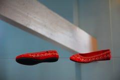 Sapatas apertadas dos caminhantes de corda Fotos de Stock