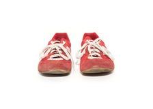 Sapatas atléticas usadas Foto de Stock Royalty Free
