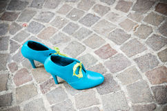Sapatas azuis Foto de Stock Royalty Free